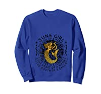 June Girl The Soul Of A Mermaid Tshirt Funny Gifts T Shirt Sweatshirt Royal Blue