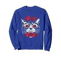 I Will Eat Your Soul Satanic Cat Spooky Halloween T Shirt Sweatshirt Royal Blue