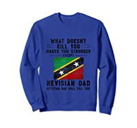 Saint Kitts Nevis Dad Gifts For Fathers Day Tank Top Shirts Sweatshirt Royal Blue