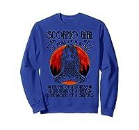 Scorpio Girl The Soul Of A Witch Tshirt Halloween Gift Sweatshirt Royal Blue