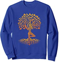 Da Baum Des Lebens With Woman Yoga T-shirt Chakra Haka Yoga T-shirt Sweatshirt Royal Blue