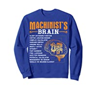 Funny Machinist Gifts Machinist S Brain Shirts Sweatshirt Royal Blue