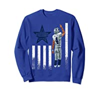 Cow Nation Of Legends American Flag For T Shirt Sweatshirt Royal Blue
