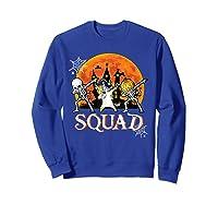 Skeleton Unicorn Pumpkin Dabbing Squad Team Halloween Tshirt Sweatshirt Royal Blue