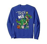 Tree Rex Dinosaur Christmas Gift T Rex Pajamas Xmas Premium T-shirt Sweatshirt Royal Blue