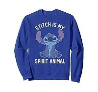 Lilo Stitch My Spirit Animal Portrait Shirts Sweatshirt Royal Blue
