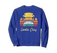 Santa Cruz Souvenir Retro Fun California Clothing Shirts Sweatshirt Royal Blue