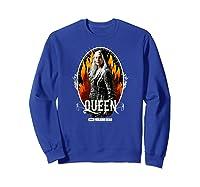 The Walking Dead Queen Carol T-shirt Sweatshirt Royal Blue