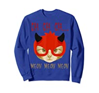 Ch Ch Ch Meow Meow Halloween Scary Cat Gifts Shirts Sweatshirt Royal Blue