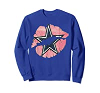 Cow Nation Of Legends Kiss Gift For T Shirt Sweatshirt Royal Blue