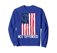 Betsy Ross American Flag Tshirt With 13 Stars For Protesters Sweatshirt Royal Blue