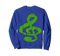 Music Note Shamrock Funny St Saint Patrick S Day T Shirt Sweatshirt Royal Blue