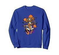 Spider Man And Iron Man Halloween Pumpkins Shirts Sweatshirt Royal Blue