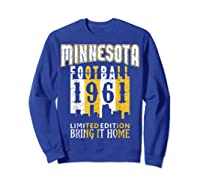 Minnesota 1961 Skyline Throwback Football Shirts Sweatshirt Royal Blue