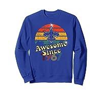 Vintage Saints Awesome Since 1967 New Orleans Football Retro Shirts Sweatshirt Royal Blue