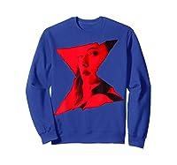 Marvel Black Widow Portrait Logo Overlay T-shirt Sweatshirt Royal Blue