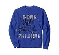 Just The Best Fishing Anywhere Shirts Sweatshirt Royal Blue
