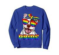 Pit Bull Pride- Gay Pride Shirt 2018 T-shirt For  Sweatshirt Royal Blue