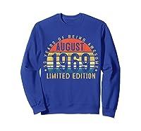 Vintage August 1969 Graphic For , Shirts Sweatshirt Royal Blue