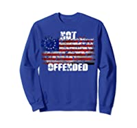 Not Offended B Ross American Flag Shirts Sweatshirt Royal Blue