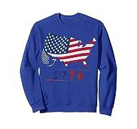 B Ross 1776 American Flag Eagle 4th Of July Shirts Sweatshirt Royal Blue