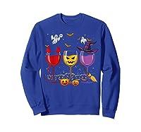 Three Glasses Of Wines Funny Halloween Wine Lover Shirts Sweatshirt Royal Blue