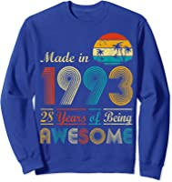 Made In 1993 Vintage Retro 28 Years Old 28th Birthday Gifts T-shirt Sweatshirt Royal Blue