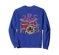 Octopus Drumming Cute Sea Drummer Lover Funny Gift Shirts Sweatshirt Royal Blue