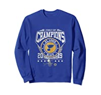 Best Gift Stanley St-louis Cup Blues Champions 2019 Tank Top Shirts Sweatshirt Royal Blue