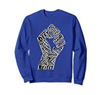 Resist Fist Anti Trump Impeach Trump T Shirt Sweatshirt Royal Blue