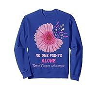Breast Cancer Awareness Month Pink Ribbons Flower T T Shirt Sweatshirt Royal Blue