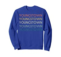 Stown Ohio Pride Vintage State Retro 70s Ohio Shirts Sweatshirt Royal Blue