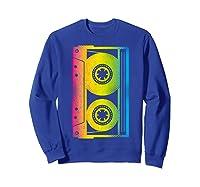 Cassette Tape 80s 90s Vintage Retro Funny Halloween Shirts Sweatshirt Royal Blue