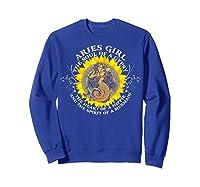 Aries Girl The Soul Of A Mermaid Tshirt Birthday Gifts Sweatshirt Royal Blue