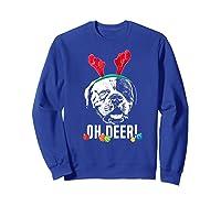 Oh Deer Funny American Bulldog Xmas Premium T-shirt Sweatshirt Royal Blue