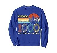 19th Birthday Gift Vintage 2000 T-shirt 19 Years Old T-shirt Sweatshirt Royal Blue
