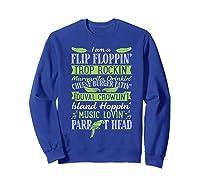 Parrot Shirt - Parrot Head Tshirts Sweatshirt Royal Blue
