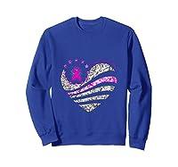 Funny Love Heart Breast Cancer Awareness Pink Ribbon Month Tank Top Shirts Sweatshirt Royal Blue