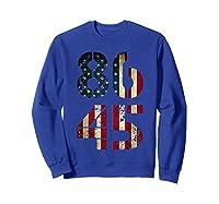 8645 Impeach Trump American Flag T Shirt Sweatshirt Royal Blue