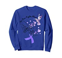 In This Family No One Fights Alone Funny Lupus Awareness T-shirt Sweatshirt Royal Blue