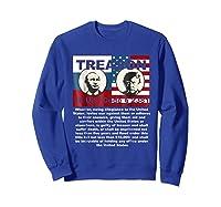 Trump Putin Treason T Shirt Impeach 45 Code 2381 Treason Sweatshirt Royal Blue