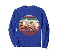 Bookworm Vintage Retro Bookish Reading Read A Book Day Gift T Shirt Sweatshirt Royal Blue