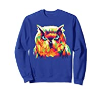 Owl Pop Art Style T Shirt Design Sweatshirt Royal Blue