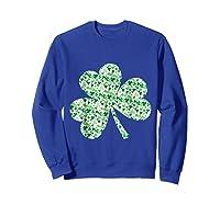 Shamrock T Shirt Saint Patricks Day Sweatshirt Royal Blue