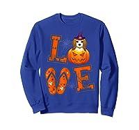 Love Beagle Pumpkin Halloween T-shirt Halloween Gifts Sweatshirt Royal Blue