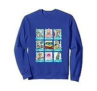 The Look Of Spongebob Characters Shirts Sweatshirt Royal Blue