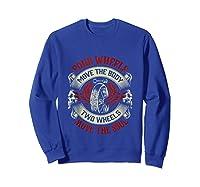 Biker Dad Gift Fathers Day Motorcycles Two Wheels Move Soul Tank Top Shirts Sweatshirt Royal Blue