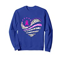 Funny Love Heart Breast Cancer Awareness Pink Ribbon Month Premium T Shirt Sweatshirt Royal Blue