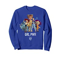 Disney Pixar Toy Story 4 Grl Pwr Distressed T-shirt Sweatshirt Royal Blue