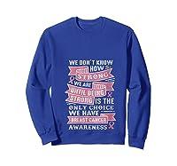 Pink Ribbon Breast Cancer Warrior Awareness Month Believe T Shirt Sweatshirt Royal Blue